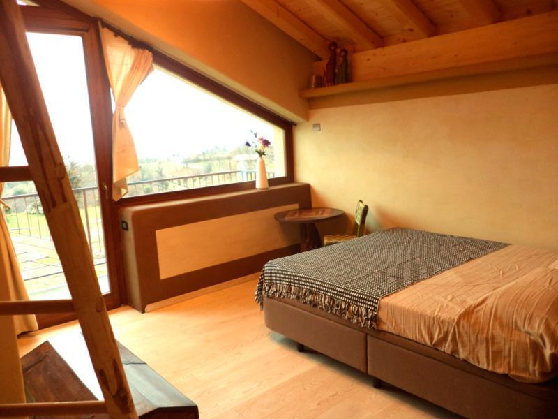 A single bedroom in the Terra housing unit